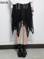 Black Gothic Bat Irregular Skirt