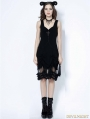Black Gothic Cross Chain Sleeveless Dress