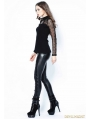 Black Gothic Leather Legging Pants for Women