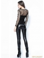 Black Gothic Spider Legging Pants for Women