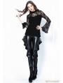 Black Gothic Sexy Flounce Legging Pants for Women
