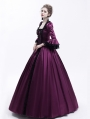 Purple Renaissance Marie Antoinett Theatrical Victorian Costume Dress