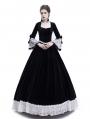 Black Velvet Civil War Queen Theatrical Victorian Costume Dress