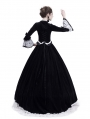 Black Velvet Civil War Queen Theatrical Victorian Costume Dress