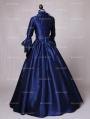 Blue Marie Antoinette Renaissance Princess Victorian Costume Dress