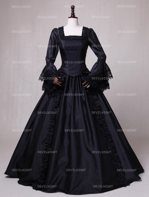 Black Ball Gown Theatrical Victorian Costume Dress