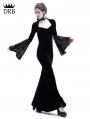 Black Velvet Dark Queen Morticia Addams Gothic Victorian Dress