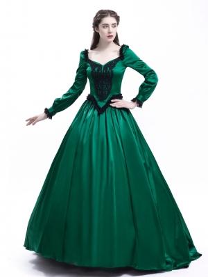 Green Belle Ball Princess Victorian Masquerade Dress