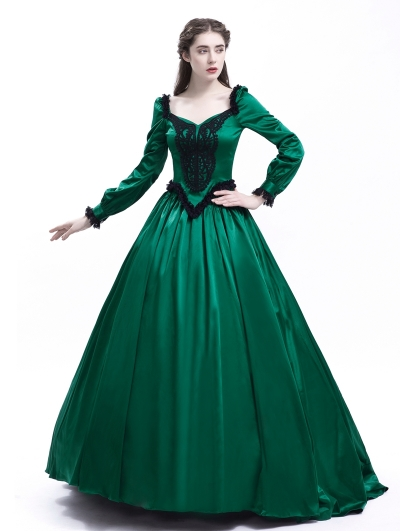 Green Belle Ball Princess Victorian Masquerade Dress
