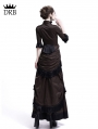 Brown Victorian Bustle Dress