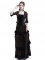Brown Victorian Bustle Dress