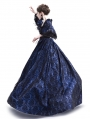 Blue Masked Ball Gothic Victorian Costume Dress