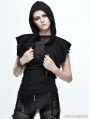 Black Gothic Bat Style Short Hooded Jacket for Women