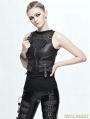 Bronze PU Gothic Pocket Top Vest for Women