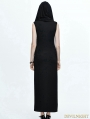 Black Gothic Sexy Sleeveless Hooded Dress