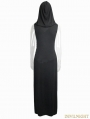 Black Gothic Sexy Sleeveless Hooded Dress