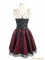 Spaghetti Straps Gothic Punk Skull Dress