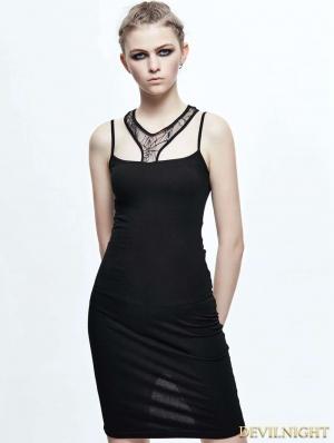 Black Gothic Spider Web Dress
