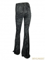 Gothic Mystery Tree Printing Bell-Bottomed Pants for Women