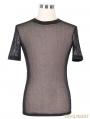 Black Gothic Net Mens Short Sleeves T-Shirt