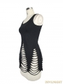 Black Gothic Punk Tank Top for Women