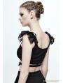 Black Gothic Short Top for Women