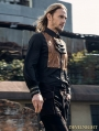 Black Industrial Steampunk Man Blouse with Detachable Bowtie