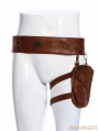 Brown Steampunk Waistband with Bag for Men