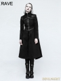Black Gothic Punk Long Coat for Women