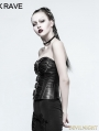 Black Gothic Punk Handsome Corset