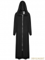 Black Gothic Cross Long Jacket for Women