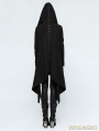 Black Gothic Dark Decadence Knitted Womens Coat with Hood