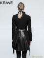 Black Gothic Swallow Tail Worsted Jacket for Women