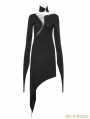 Black Gothic Dark Knitting Cotton Dress