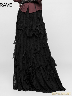 Black Gothic vintage Gorgeous Skirt