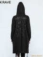 Black Gothic Punk IMP Printing Sweater for Women