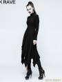 Black Gothic Witch Asymmetry Jacket for Women