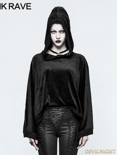 Black Gothic Chinese Sleeve Sweater for Women