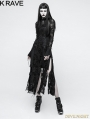 Black Gothic Retro Lace Rope Dress