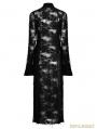 Black Gothic Retro Lace Rope Dress