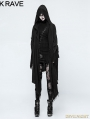 Black Gothic Punk Loose Death Cloak for Women