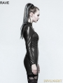 Black Gothic Punk Sexy PU Leather Dress