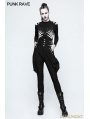 Black Gothic Military Uniform High Waist Riding Breeches for Women