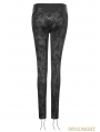 Black Gothic Punk Cloud Patterns Leggings for Woemn