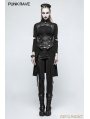 Black Gothic Punk Slit Sweater for Women
