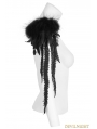 Gothic Feather Leather Shoulder Knot