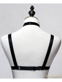 Black Hollow Out Gothic Harness Elastic Cage Bra