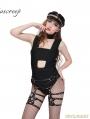 Black Leather Punk Goth Pentagram Thigh Garter