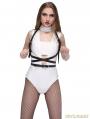 Black Punk Gothic Leather Suclpting Belt Body Bondage Harness