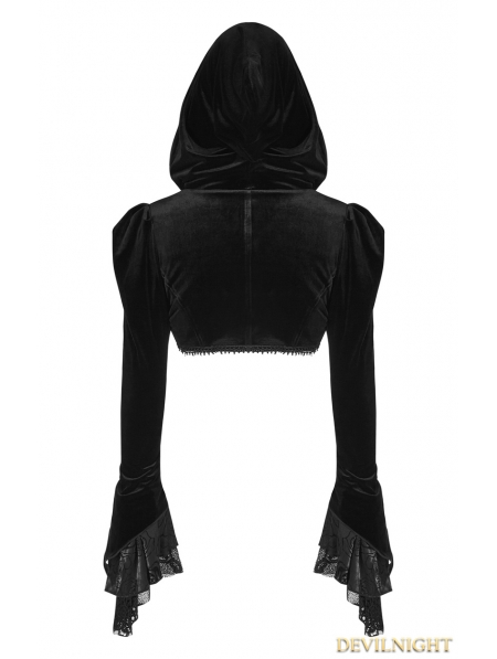 Black Gothic Velvet Short Jacket For Women Devilnight Co Uk